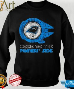 Come to the Carolina Panthers Side Star Wars Millennium Falcon shirt