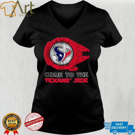 Come to the Houston Texans Side Star Wars Millennium Falcon shirt