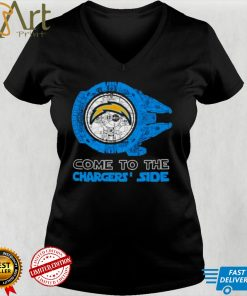 Come to the Los Angeles Chargers Side Star Wars Millennium Falcon shirt