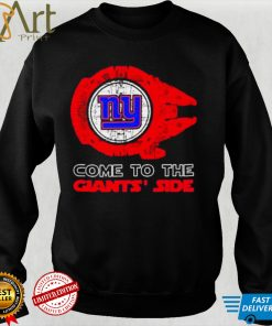 Come to the New York Giants Side Star Wars Millennium Falcon shirt