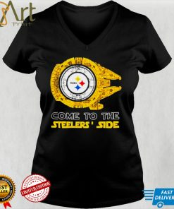 Come to the Pittsburgh Steelers Side Star Wars Millennium Falcon shirt